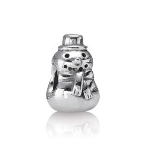 Authentic Pandora Silver Snowman Charm